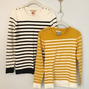 Banana Republic striped sweater bundle size small